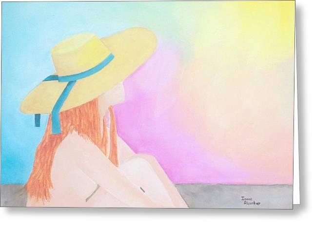 The Sunbathing Greeting Card by Isaac Alcantar