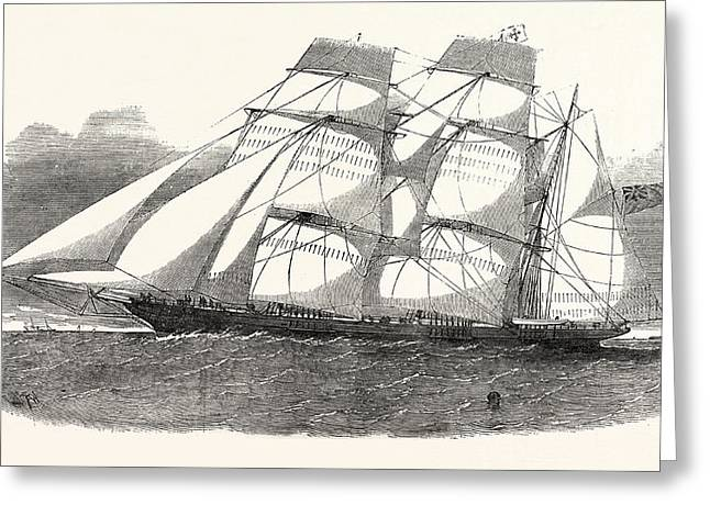 The Sunderland Clipper Barque Flying Dragon 1854 Greeting Card