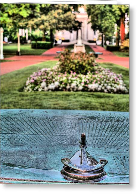 The Sundial Greeting Card by JC Findley