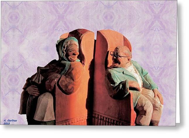 Greeting Card featuring the digital art The Sunny Couple by Aliceann Carlton