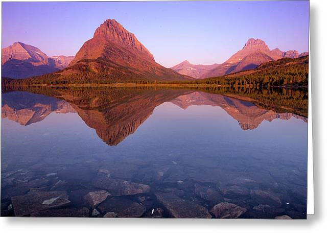 The Sunrise On Mount Grinnell As Seen Greeting Card