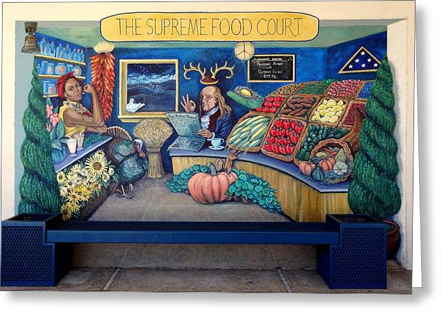 The Supreme Food Court Greeting Card by Elizabeth Criss