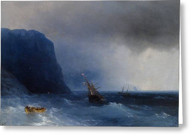 The Survivors Greeting Card by Ivan Constantinovich Aivazovsky