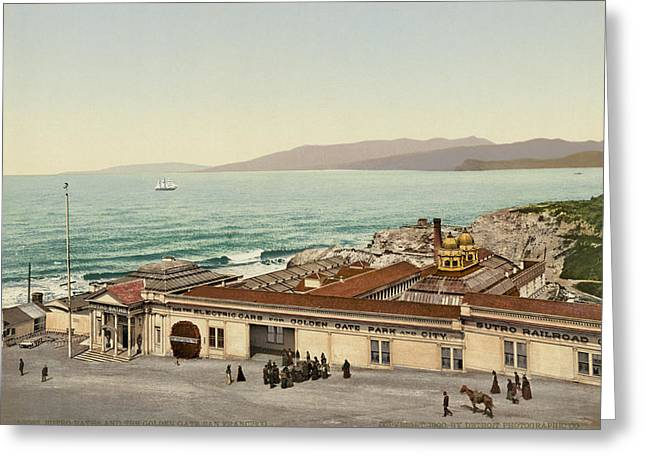 The Sutro Baths In Sf Greeting Card by Underwood Archives