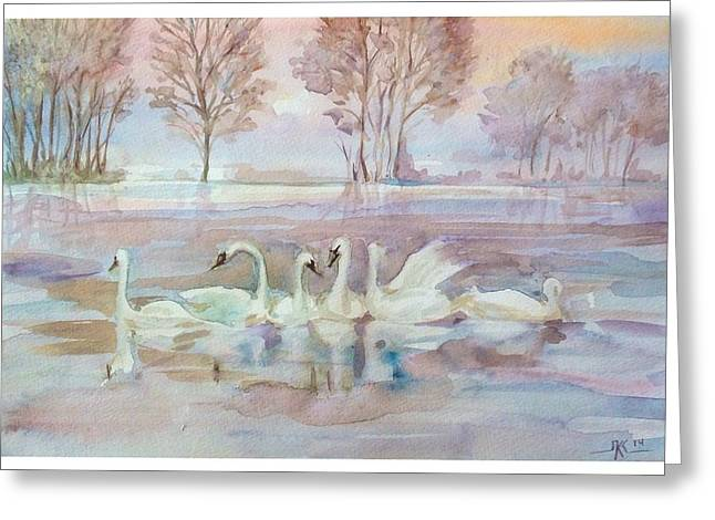 The Swan Lake Greeting Card