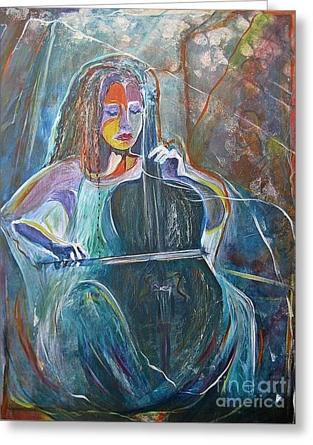 The Swan Of Saint-sanz Greeting Card by Diana Bursztein