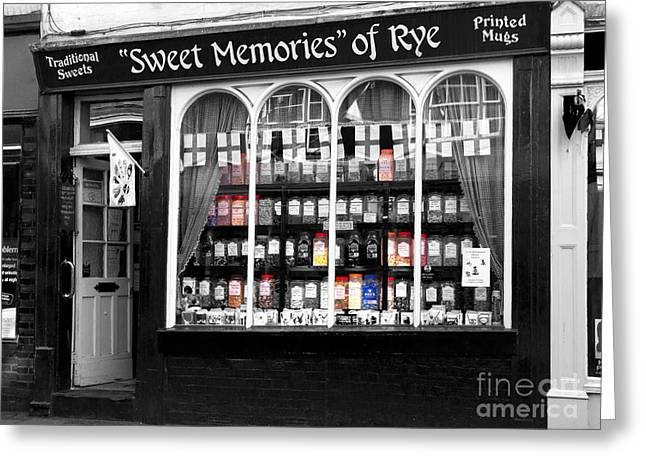 The Sweet Shop Greeting Card by Louise Heusinkveld