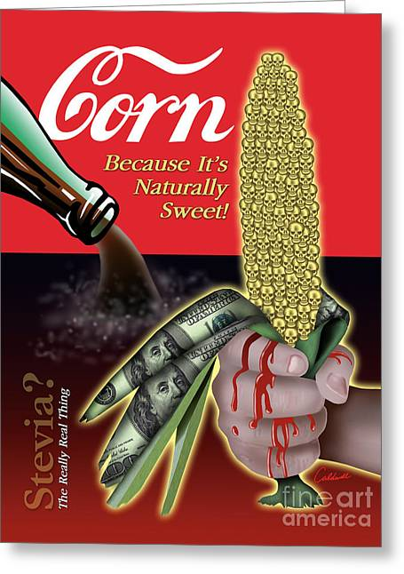 Greeting Card featuring the digital art The Sweet Taste Of Death by Timothy Lowry
