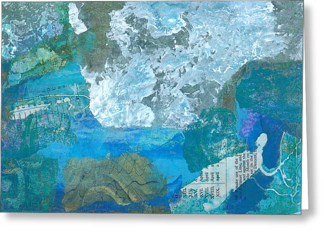 Greeting Card featuring the mixed media The Swimmer by Catherine Redmayne