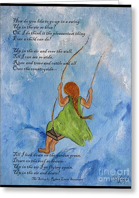 The Swing Greeting Card by Ella Kaye Dickey