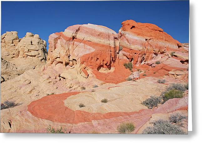 The Swoosh At The Valley Of Fire Greeting Card by Steve Wolfe