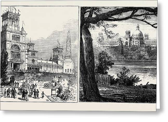 The Sydney Exhibition Building, Destroyed By Fire Greeting Card by English School