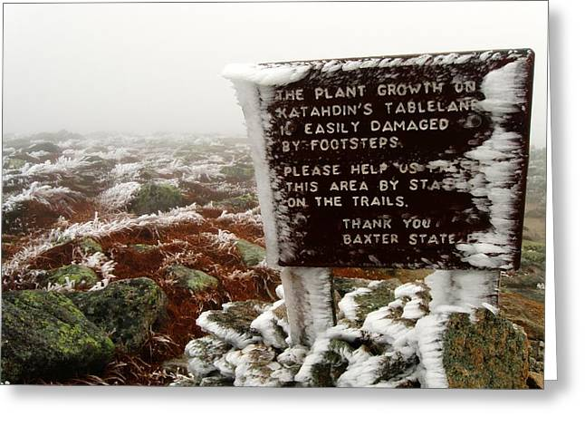 The Tablelands - Mt. Katahdin Greeting Card