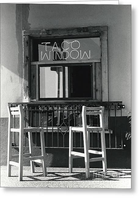 The Taco Window Greeting Card