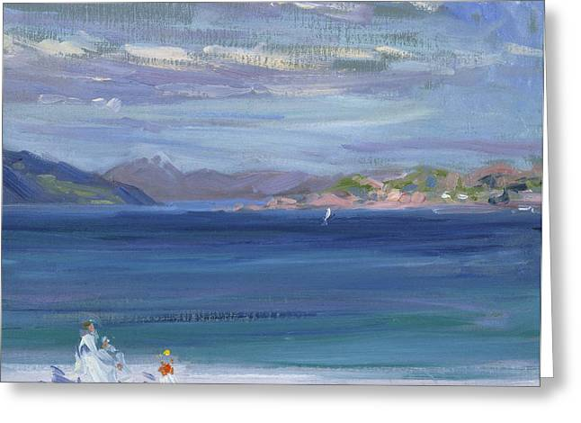 The Tail Of Mull From Iona Greeting Card by Francis Campbell Boileau Cadell