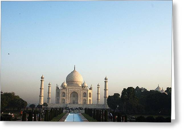 The Taj. Early Morning Greeting Card