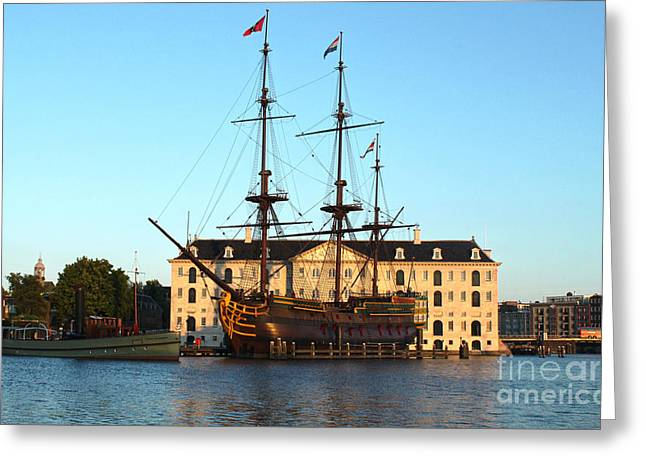 The Tall Clipper Ship Stad Amsterdam - Sailing Ship - 07 Greeting Card by Gregory Dyer