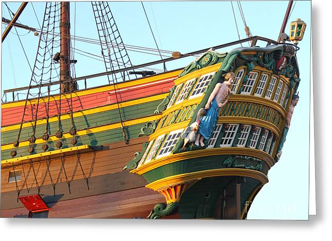 The Tall Clipper Ship Stad Amsterdam - Sailing Ship  - 08 Greeting Card by Gregory Dyer