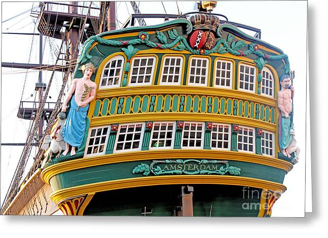 The Tall Clipper Ship Stad Amsterdam - Sailing Ship  - 09 Greeting Card by Gregory Dyer