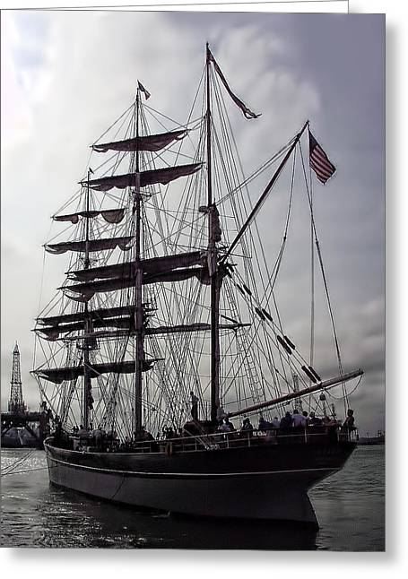 The Tall Ship Elissa Greeting Card