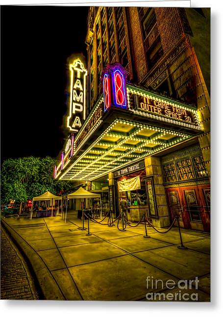 The Tampa Theater Greeting Card by Marvin Spates