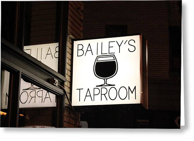 The Taproom Greeting Card by Kyle Harrigan
