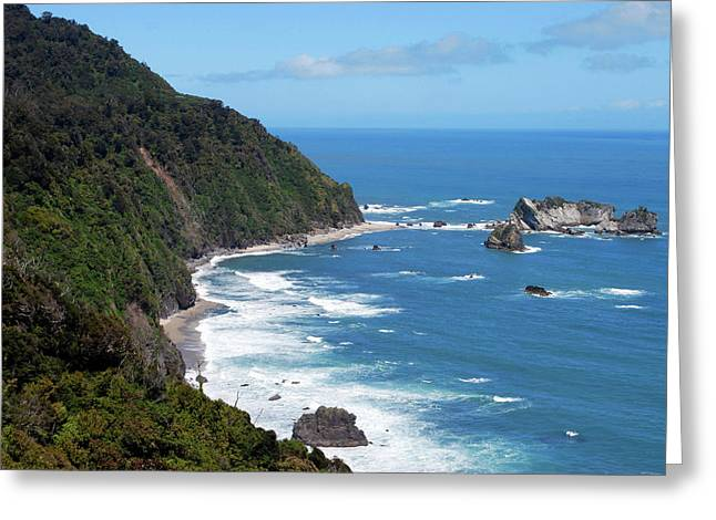 The Tasman Sea, Karamea, New Zealand Greeting Card