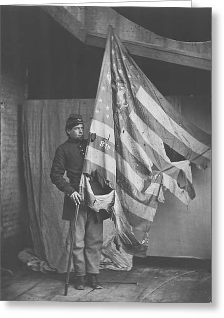 The Tattered Flag Of The Union Greeting Card