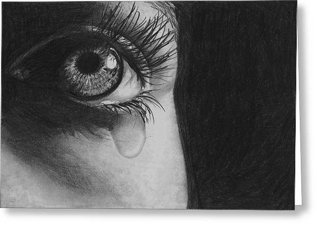 The Tear 2 Greeting Card by Andrew Dyson