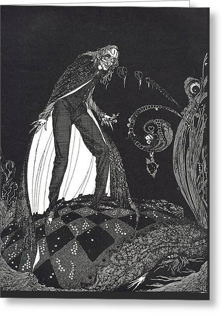 The Tell Tale Heart Greeting Card by Harry Clarke