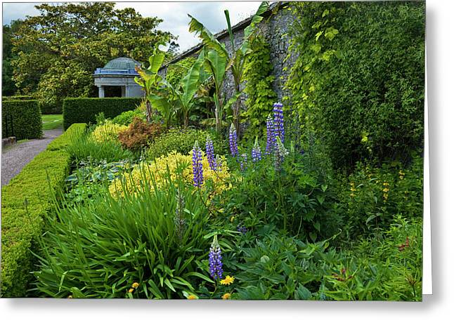 The Temple And Herbaceous Borders Greeting Card