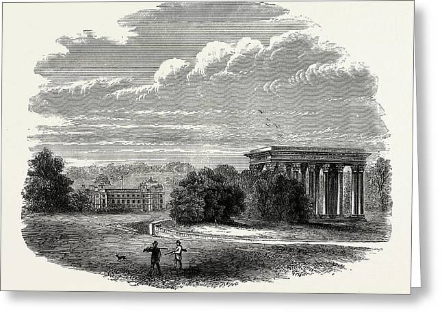 The Temple Of Concord, Audley End, Uk, England Greeting Card