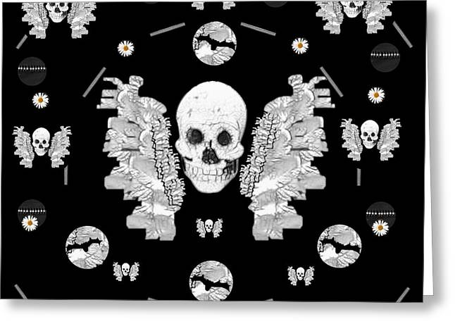 The Temple Of Skulls Greeting Card by Pepita Selles