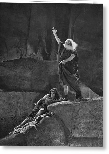 The Ten Commandments Movie Greeting Card by Underwood Archives