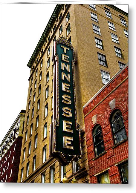 The Tennessee Theater - Knoxville Tennessee Greeting Card by David Patterson