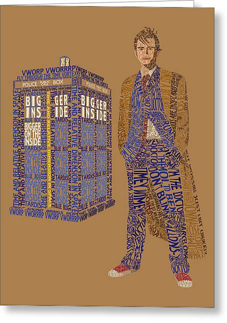 The Tenth Doctor Greeting Card by Christina Fixemer