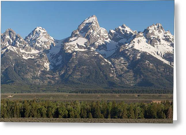 The Tetons Greeting Card by Aaron Spong