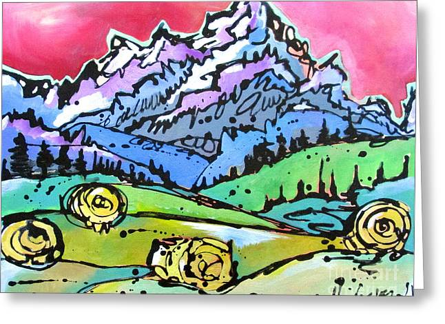 The Tetons From Walton Ranch Greeting Card by Nicole Gaitan