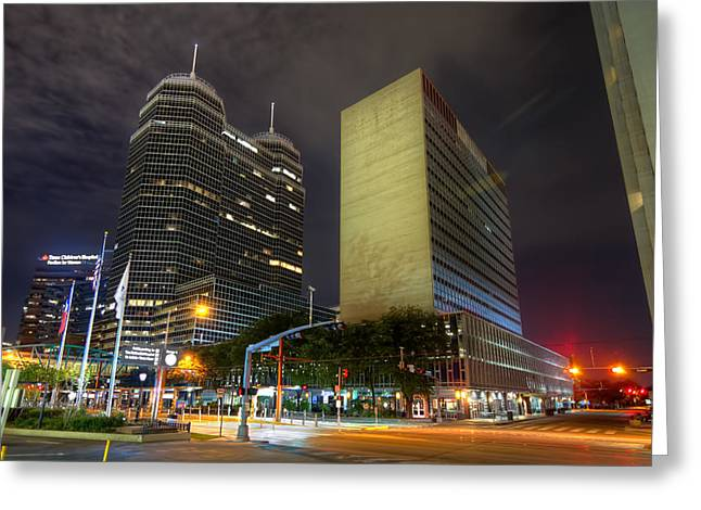 The Texas Medical Center At Night Greeting Card