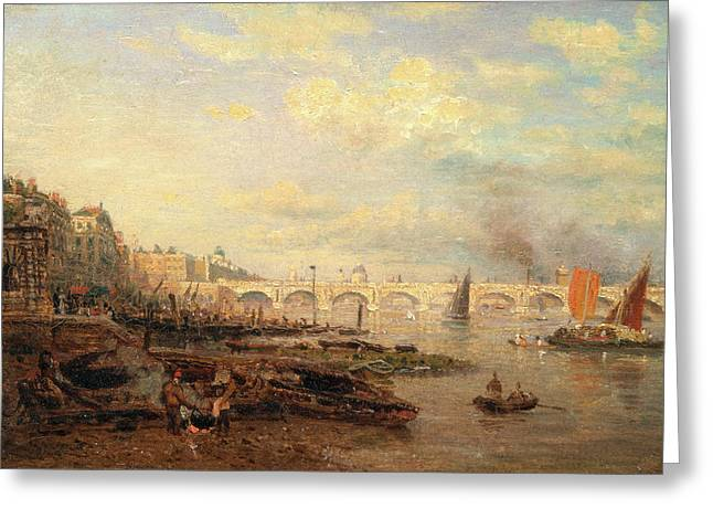 The Thames And Waterloo Bridge From Somerset House Greeting Card by Litz Collection