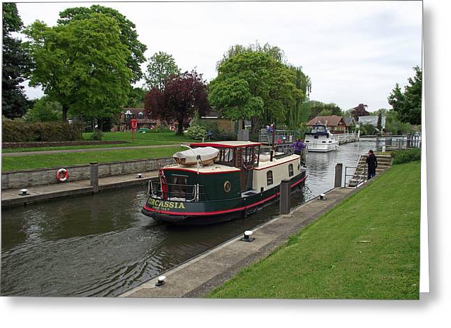 The Thames At Penton Hook Lock Greeting Card