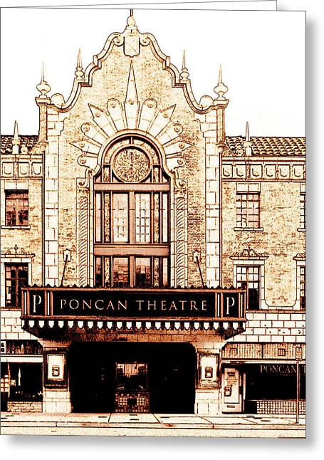 The Theatre Greeting Card by Ann Powell