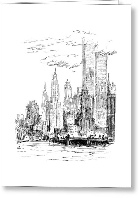 The Thing I Like About New York Greeting Card by Robert Weber