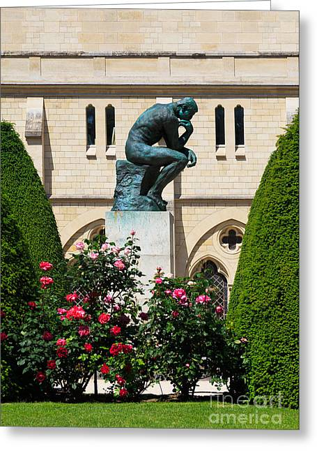 The Thinker By Auguste Rodin Greeting Card by Louise Heusinkveld