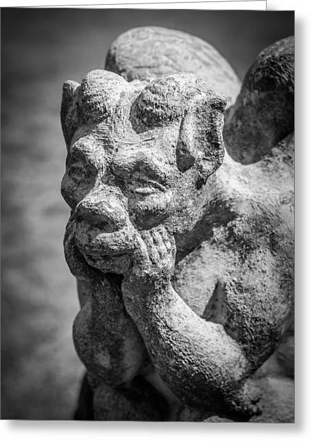 The Thinker Greeting Card by James Barber