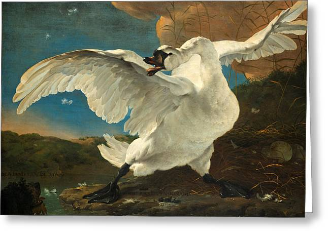 The Threatened Swan Greeting Card