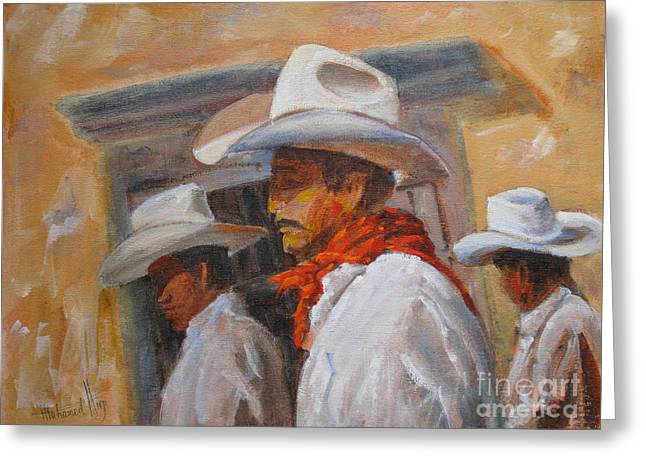 The Three Amigos Greeting Card by Mohamed Hirji