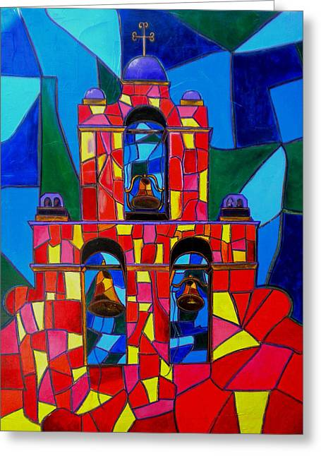 The Three Bells Of San Jose Mission Greeting Card by Patti Schermerhorn