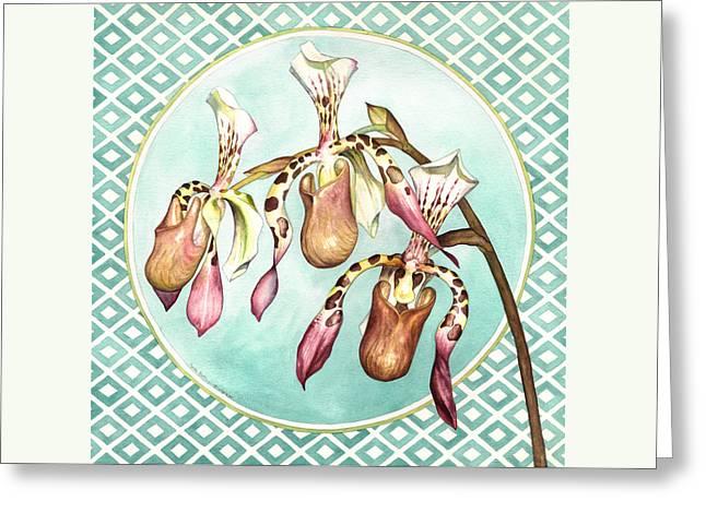 The Three Graces Greeting Card by Lynda Hoffman-Snodgrass