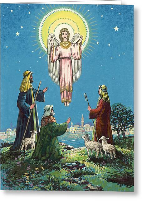 The Three Shepherds  Greeting Card by Stanley Cooke